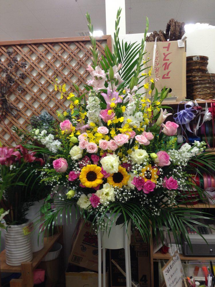 15000円 お祝いスタンド花