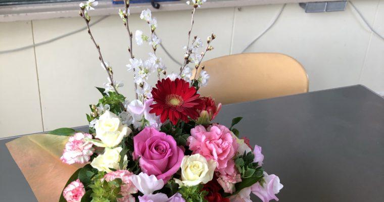 卒業式の装花